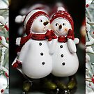 Christmas card with snowmen by Cheryl Hall