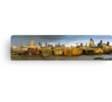 St Paul's and Thames panorama Canvas Print