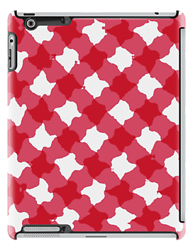 Red gingham design  by stuwdamdorp