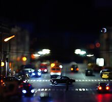 Traffic at Night  by mrivserg