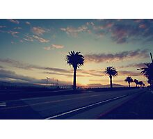 Sunset Drive Photographic Print