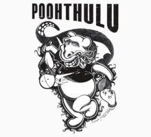 Poohthulu: Winnie the Pooh Meets Cthulu Sticker by Littledeviltees