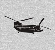 Large Detailed Boeing Chinook Helicopter Black v1 by jnmvinylstudio