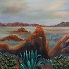 Prickly Pear and Agave by Cal Kimola Brown