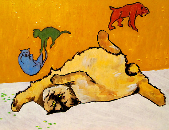 Cat Catnip Cave Paintings by David Olson