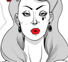 """Lana Del Rey """"Born to Die"""" - BW and Red version Sticker"""