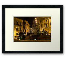 Diana Fountain -  Syracuse, Sicily Framed Print