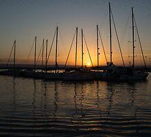 Syracuse Harbour Sunset by Georgia Mizuleva