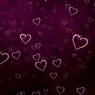 Beautiful Purple Hearts  by Val  Brackenridge