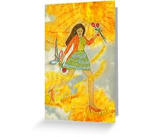 I'm Walking On Sunshine Greeting Card
