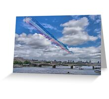 Queens Birthday Flypast 4 - The Reds Over London -  15.06.2013 Greeting Card