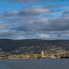 Hobart from the Derwent River, Tasmania #2 by Elaine Teague