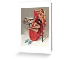 Gil Elvgren - Flower Surprise Pin-up Girl Greeting Card