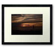Sunset Boy Framed Print
