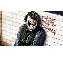 Joker Dark Knight Photographic Print