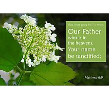 Our Father ~ Matthew 6:9 Photographic Print