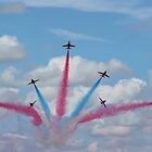 Red Arrows 03 by Peter Barrett