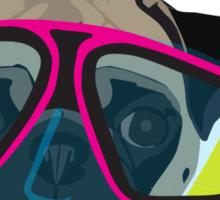 Snorkel Pug, Snorkel Pug! Does whatever a snorkel pug does!!! Sticker