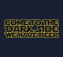 Come to the dark side we have beer (yellow black) Kids Clothes