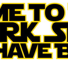 Come to the dark side we have beer (yellow black) Sticker