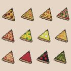 Pixel Pizza Grid by Save Room Mini Bar