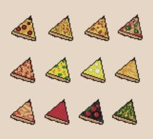 Pixel Pizza Grid by Michael Berto