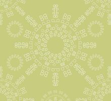 Monogram pattern (B) in Lichen by janna barrett