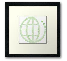 ecoecho : green earth Framed Print