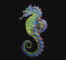 'Glamorous Watercolour Seahorse' by STUDIO 88 TARANAKI NZ