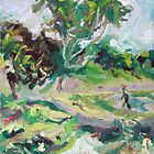 Landscape with a Figure  by ochre67