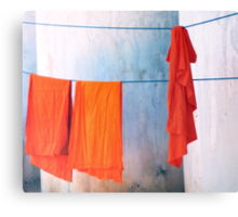 Monk robes  Canvas Print