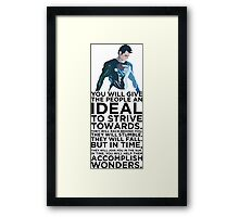 Superman Typography Part 2 Framed Print
