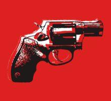 Gun/revolver Tshirt  by Sam Mobbs