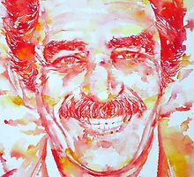GABRIEL GARCIA MARQUEZ - watercolor portrait by lautir