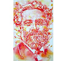 JULES VERNE watercolor portrait Photographic Print