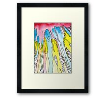 POP Color Drenched painting Framed Print