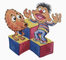 Q-Bert & Ernie by eliwolff