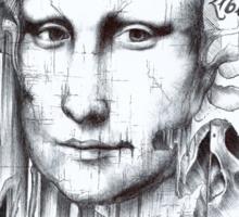 Behind Mona Lisa Sticker