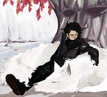 Jon Snow and Ghost by Gaspar Nolasco