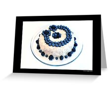 Cream Cheese Blueberry And Blackberry Bundt Cake With Recipe Greeting Card