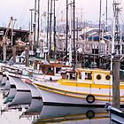 The Fishing Boats - Fishermans Wharf. San Francisco. by Mike Koenig