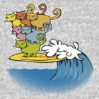 cat surfing by Matt Mawson