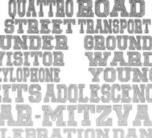 Word Association - Black Gradient Sticker