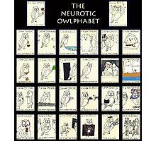 The Neurotic Owlphabet Photographic Print