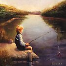 Lil Boy Fishing  by Franciska Howard