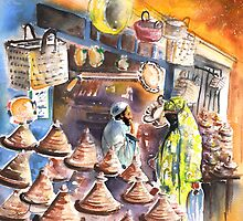 Morocco - Pottery Shop in Essaouira by Goodaboom