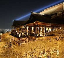 Kiyomizu dera at night by Connor Paul