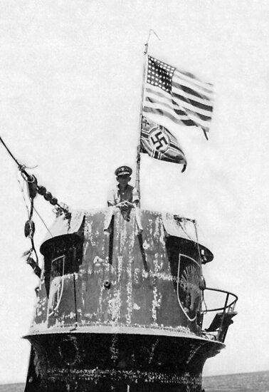 Old Glory Flies over the U-505 1944 (photo) by Bridgeman Art Library