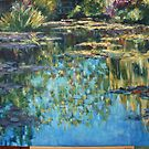 Large Monet Lily Pond WIP 7 by Terri Maddock