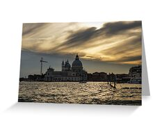 Watercolor Sky over Venice Greeting Card